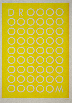 DROOOM | A3 - Riso poster Sunflower