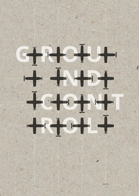 GROUNDCONTROL | A3 - Riso poster Zwart Wit