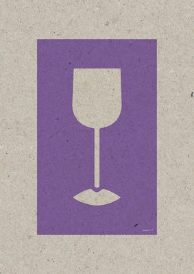 Wine Lips | A3 - Riso poster Violet