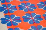 detail hartje4 patroon A3 Riso poster FluorOranje Blauw