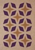 riso ansichtkaart paars metallic goud - voorbeeld