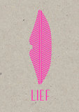 LIEF A3 Riso poster fluor pink