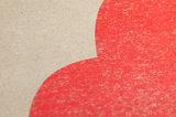 In De Wolken A3 Riso poster Fluor Rood detail