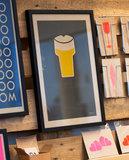 Bier poster ingelijst