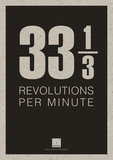 33 1/3 RPM Poster black