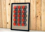 Hexagon poster ingelijst