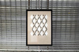 Hexagon lijnen patroon - ingelijst