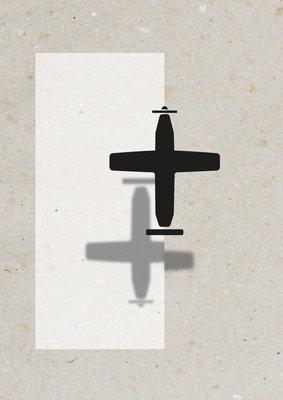 VLIEGTUIG | A3 - Riso poster Zwart Wit