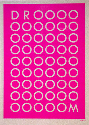 DROOOM | A3 - Riso poster Fluor Pink