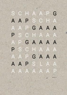 SCHAAP SLAAAP | A3 Riso poster Zwart Wit