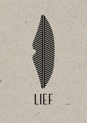 Lief | A3 Riso poster Zwart