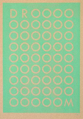 DROOOM | A3 - Riso poster Seafoam