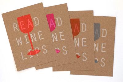 Read Wine Lips | A6 Riso ansichtkaarten