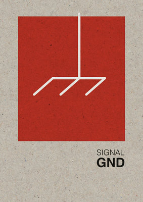 GND | A3 Riso poster Rood Wit Zwart