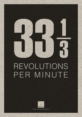 33RPM | A3 Riso poster Zwart