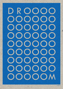 DROOOM A3 Riso poster blauw