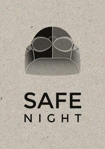 safe night A3 Riso poster Zwart
