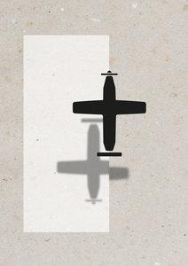vliegtuig A3 Riso poster Zwart Wit voorbeeld