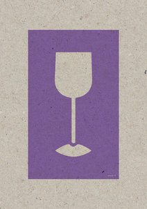 WINE LIPS A3 Riso poster violet