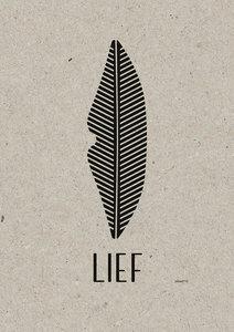 LIEF A3 Riso poster zwart