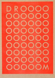 DROOOM A3 Riso poster fluor oranje