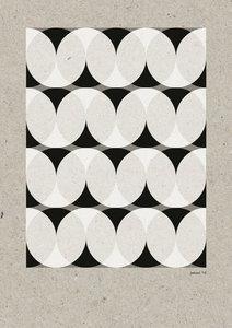 C-Curve Variatie no.1  2 kleuren Riso poster