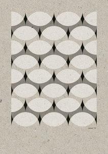 C-Curve Variatie no.2  2 kleuren Riso poster