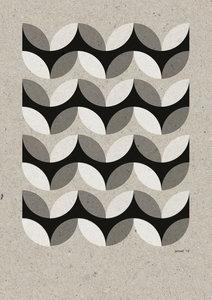 C-Curve Variatie no.3  2 kleuren Riso poster