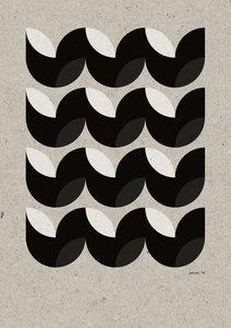 C-Curve Variatie no.4  2 kleuren Riso poster