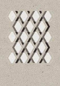 Hexagon lijnenpatroon